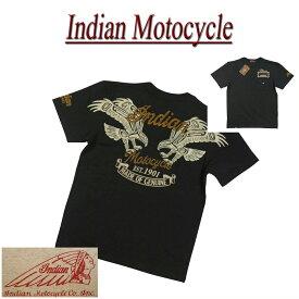 【4サイズ】 jb391 新品 INDIAN MOTOCYCLE ネイティブ サンダーバード刺繍 ポケット付 半袖 Tシャツ IMST-704 メンズ ティーシャツ インディアンモトサイクル IndianMotocycle