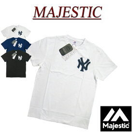 【3色3サイズ】 jb421 新品 MAJESTIC ニューヨーク ヤンキース さがら刺繍 半袖 Tシャツ メンズ マジェスティック New York Yankees MLB OFFICIAL WEAR NY ティーシャツ MM01-NYK-0244
