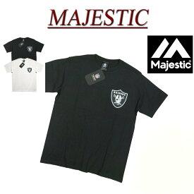 【2色3サイズ】 jb431 新品 MAJESTIC オークランド レイダース ロゴプリント 半袖 Tシャツ NM01-OLR-0038 メンズ マジェスティック Oakland Raiders NFL OFFICIAL WEAR ティーシャツ