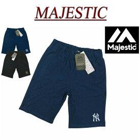 【2色3サイズ】 jb471 新品 MAJESTIC ニューヨーク ヤンキース ロゴ刺繍 パイル地 ショートパンツ MM12-NYK-0025 メンズ マジェスティック New York Yankees MLB OFFICIAL WEAR NY タオル地 ショーツ ハーフパンツ