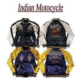 【4サイズ】 jb691 新品 INDIAN MOTOCYCLE 総刺繍 リバーシブル レーヨン サテン スカジャン IMJK-702 メンズ ネイティブ柄 スーベニアジャケット インディアンモトサイクル IndianMotocycle