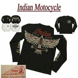 【2色4サイズ】 jb821 新品 INDIAN MOTOCYCLE ネイティブ サンダーバード刺繍 ロンT IMLT-708 メンズ ティーシャツ 長袖 Tシャツ ロンティー インディアンモトサイクル IndianMotocycle