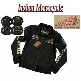 【2色4サイズ】 jb901 新品 INDIAN MOTOCYCLE ヘッドマーク さがら刺繍 ジャージトップ IMSZ-703 メンズ インディアンモトサイクル トラックジャケット IndianMotocycle