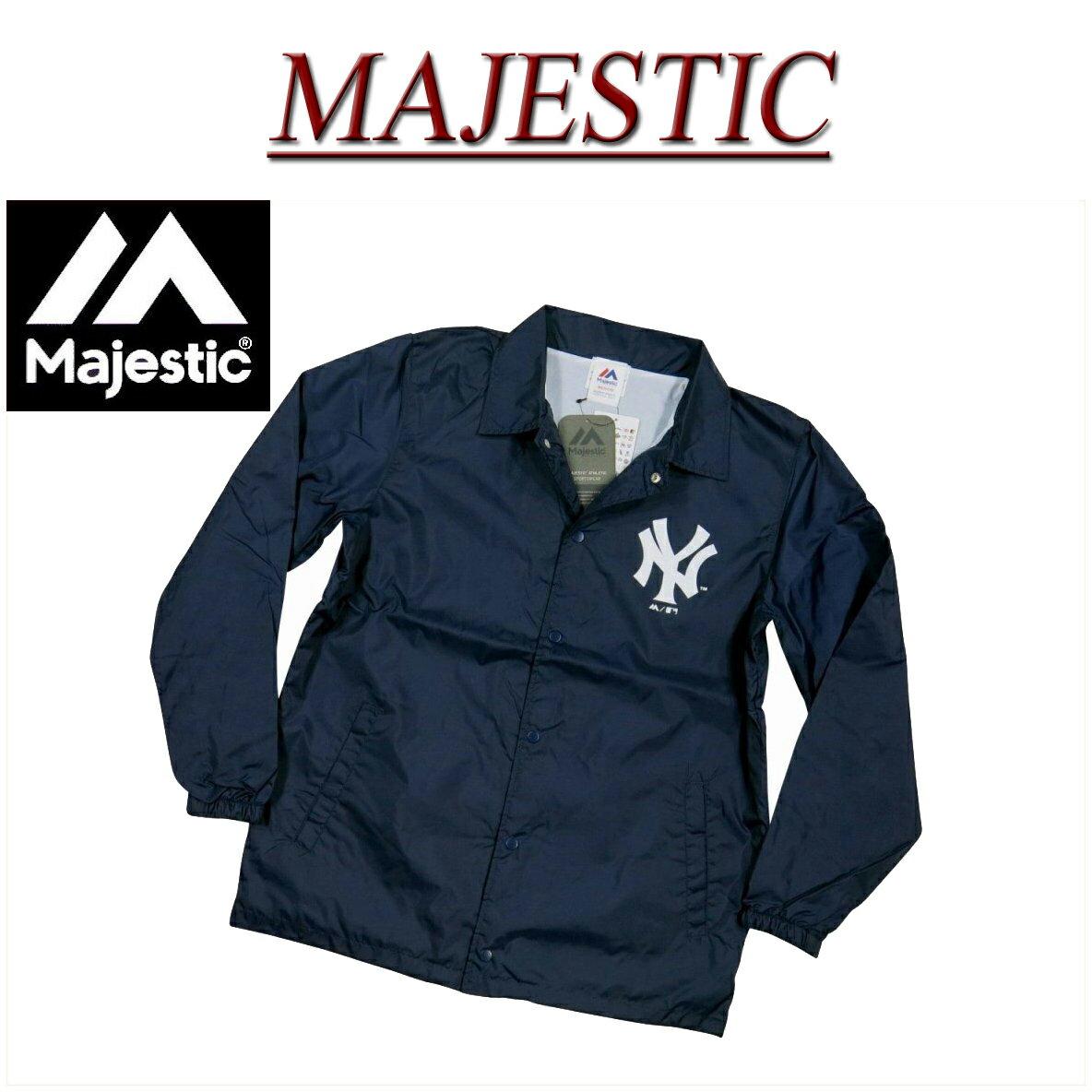 【2017秋冬 4サイズ】 jb921 新品 MAJESTIC ニューヨーク ヤンキース コーチジャケット MM23-NYK-0090 メンズ マジェスティック New York Yankees MLB OFFICIAL WEAR NY ウインドブレーカー ナイロンジャケット