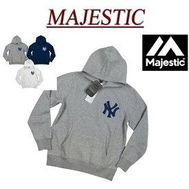 【30%off 3色5サイズ】 jb932 新品 MAJESTIC MLB ニューヨーク ヤンキース 裏起毛 プルオーバー スウェットパーカー MM06-NYK-0132 メンズ マジェスティック MLB OFFICIAL WEAR NY フェルトワッペン付