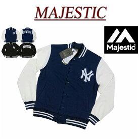 【2色5サイズ】 jb951 新品 MAJESTIC ニューヨーク ヤンキース ロゴ刺繍 裏ボア スウェット スタジャン MM22-NYK-0003 メンズ マジェスティック スタジアムジャケット ジャケット スタジアムジャンパー