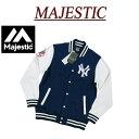 【1/6再入荷! 5サイズ】 jb961 新品 MAJESTIC 当店別注モデル ニューヨーク ヤンキース ロゴ刺繍 裏起毛 スウェット …