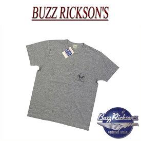 【4サイズ】 nz921 新品 BUZZ RICKSON'S 日本製 U.S. AIR FORCE スラブ地 ポケット付 半袖 Tシャツ BR77600 メンズ バズリクソンズ US AIR FORCE SLAB YARN T-SHIRT ティーシャツ Made in JAPAN 【smtb-kd】