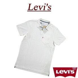 【4サイズ】 ac511 新品 Levis USライン 半袖 ポケット付 無地 ポロシャツ メンズ リーバイス BRAMBLE S/S POCKET POLO SHIRT BRIGHT WHITE Levi's