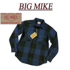 【4サイズ】 ac551 新品 BIG MIKE 復刻 長袖 バッファローチェック ヘビーネルシャツ 101835104 メンズ ビッグマイク HEAVY FLANNEL WORK SHIRTS フランネルシャツ ワークシャツ ヘビネル BIGMIKE Made in INDIA 【smtb-kd】