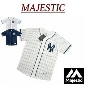 【2色5サイズ】 jc251 新品 MAJESTIC ニューヨーク ヤンキース ピンストライプ ラグランスリーブ ベースボールシャツ MM21-NYK-8S07 メンズ マジェスティック New York Yankees MLB OFFICIAL WEAR NY 【smtb-kd】