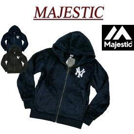 【2色3サイズ】 jc641 新品 MAJESTIC MLB ニューヨーク ヤンキース ボアフリース ジップパーカー MM06-NY-8F14 メンズ マジェスティック MLB OFFICIAL WEAR NEW YORK YANKEES NY ワッペン付 ジップアップパーカー