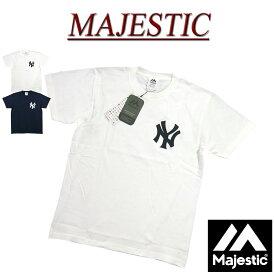 【2色5サイズ】 jc851 新品 MAJESTIC ニューヨーク ヤンキース フェルト ワッペン 半袖 Tシャツ MM01-NY-9S45 メンズ マジェスティック New York Yankees MLB OFFICIAL WEAR NY ティーシャツ 【smtb-kd】