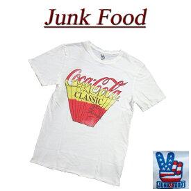 【US規格 5サイズ】 ac661 新品 JUNK FOOD クラシック コカコーラ ビンテージ調 ダメージ加工 半袖 Tシャツ 12MS103XCCV0003 メンズ ジャンクフード CLASSIC COCA COLA ティーシャツ JunkFood 【smtb-kd】