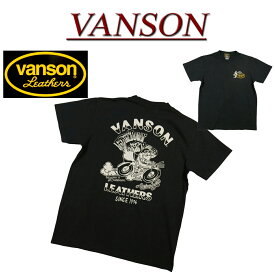 【7/12再入荷! 2019春夏 4サイズ】 na971 新品 VANSON USA生産モデル バード ベーシックロゴ プリント 半袖 Tシャツ NVST-919 メンズ バンソン SHORT SLEEVES T-SHIRT ヴァンソン Made in USA 【smtb-kd】