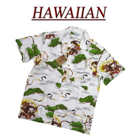 【7サイズ】 wu4810 新品 風神雷神 半袖 和柄 レーヨン100% アロハシャツ メンズ アロハ ハワイアンシャツ 【smtb-kd】 (ビッグサイズあります!)