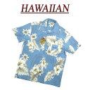 【2020春夏 7サイズ】 wu482 新品 ハイビスカス 花柄 半袖 レーヨン100% アロハシャツ メンズ アロハ ハワイアンシャ…
