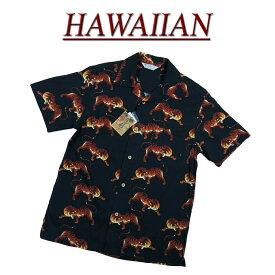【2020春夏 7サイズ】 wu506 新品 虎 半袖 和柄 レーヨン100% アロハシャツ メンズ アロハ ハワイアンシャツ 和柄アロハ 【smtb-kd】 (ビッグサイズあります!)