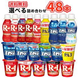 20種類から選べる4種類 R-1ドリンク5種類 LG21ドリンク2種類 PA-3ドリンク R-1食べる5種類 LG21食べる5種類 PA-3食べる 4種類×12本/48本入り【クール便】