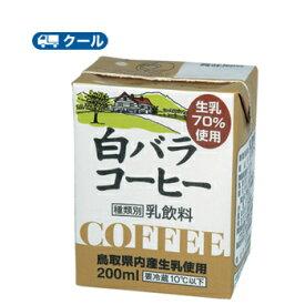 白バラ コーヒー 200ml×12本クール便/無添加/珈琲/鳥取/大山/酪農 香料・添加物不使用