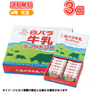 白バラ 牛乳 ラングドシャ 3箱 /バタークッキー/ホワイトチョコ/鳥取スイーツ/お菓子/洋菓子 送料無料