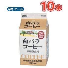 白バラ コーヒー【500ml×10本】 クール便/無添加/珈琲/鳥取/大山/酪農 香料・添加物不使用