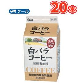 白バラ コーヒー【500ml×20本】 クール便/無添加/珈琲/鳥取/大山/酪農 香料・添加物不使用