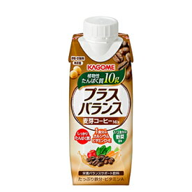 カゴメ プラスバランス 麦芽コーヒーMix 250g 12本【2ケース】紙パック