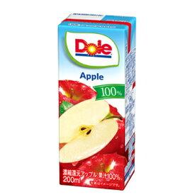 雪印 メグミルク Dole アップル 100%【200ml×18本入】紙パック 送料無料 〔ドール 果汁100% フルーツジュース アップルジュース りんごジュース〕