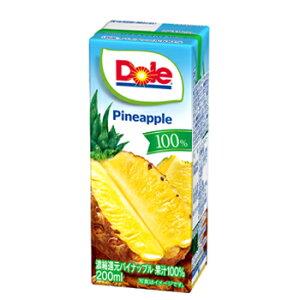 雪印 メグミルク Dole パイナップル 100%【200ml×18本入】紙パック 送料無料 〔ドール 果汁100% フルーツジュース パイナップルジュース〕