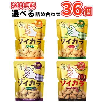 送料無料 大塚製薬 ソイカラ(SoyCarat)36袋(2ケース)3種類から選べる2ケース(チーズ味、のり納豆味、オリーブオイルガーリック味) そいから 大豆 栄養食品 大豆イソフラボン
