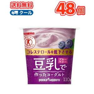 ソヤファーム 豆乳 ヨーグルトブルーベリー【110g×12コ×2】 2ケース48個入【クール便】送料無料