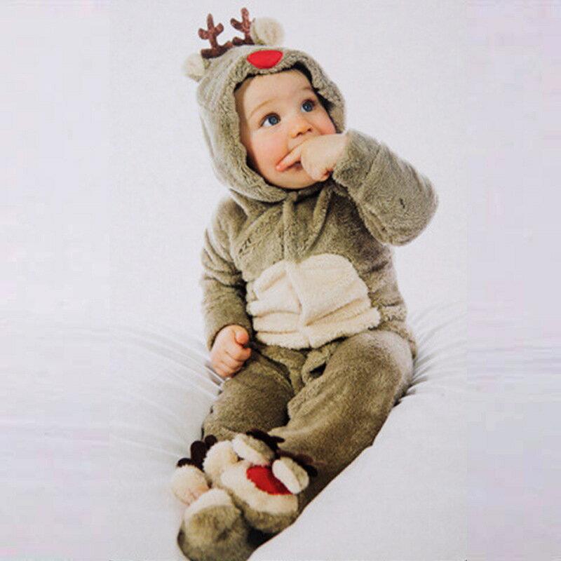 あす楽◆JUVIA◆クリスマスプレゼント トナカイ着ぐるみ コスチューム 着ぐるみ オールインワン キッズ ベビー モコモコ 防寒着男女共用 トナカイ着ぐるみ もこもこ 子供用 トナカイ ベビー カバーオール 女の子 冬服 赤ちゃん キッズ 男の子