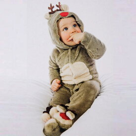 ◆JUVIA◆あす楽 即納 クリスマスプレゼント サンタ トナカイ着ぐるみ コスチューム 着ぐるみ オールインワン キッズ ベビー モコモコ 防寒着男女共用 トナカイ着ぐるみ もこもこ 子供用 トナカイ ベビー カバーオール 女の子 冬服 赤ちゃん キッズ 男の子