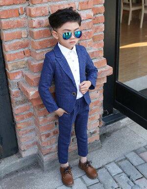 子供服男の子スーツ男の子スーツ5点セット卒業式入園式発表会男の子結婚式ジュニア長袖ジャケットベストズボンチェック柄