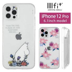IIIIfit Crystal Shell MOOMIN ムーミン iPhone 12 Pro ハードケース クリアガラス iPhone12 Pro スマホケース レンズ保護 クリア キャラクター カバー アイフォン iPhone 12Pro 花柄 ピンク 紫 パープル ハードカバー かわいい アイホン