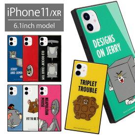トムアンドジェリー iPhone 11 スクエア ガラスケース ケース ハードカバー iPhoneXR かわいい おしゃえれ iPhone11 トムとジェリー スマホケース キャラクター グッズ カバー iPhone イレブン アイフォン ジャケット アイホン