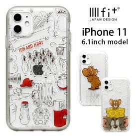 トムとジェリー IIIIfit clear iPhone 11 ケース クリア 耐衝撃 スマホケース 透明 トム&ジェリー iPhone11ケース カバー ジャケット かわいい おしゃれ アイホン イレブン iPhone11 iPhoneXR ハードケース ハードカバー