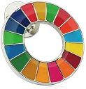 SDGs バッジ ピンバッチ バッヂ「国連公式最新仕様」ピンバッジの留め具 銀色 エスディージーズ