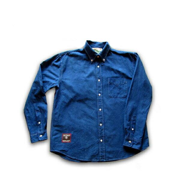 ASCENSION(アセンション)藍染めオックスフォードシャツ メンズ(mens)・レディース(ladys)・秋冬・シャツ(shirt)・アウトドア(outdoor)・野外フェス・タイダイ・TIE-DYE(tie dye) as-453