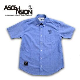 ASCENSION(アセンション)オックスフォードシャツ(メンズ(mens)・シャツ(shirt)・デニム・ライトアウター・クールビズ・ストリート・アウトドア(outdoor)・デザイン as-600