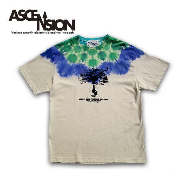 ASCENSION(アセンション)曼荼羅 タイダイ TEEシャツ メンズ(mens)・Tシャツ(T-shirt) アウトドア(outdoor)・野外フェス・タイダイ・TIE-DYE as-655