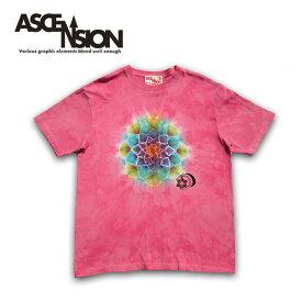 ASCENSION(アセンション)曼荼羅 タイダイ TEEシャツ メンズ(mens)・Tシャツ(T-shirt) アウトドア(outdoor)・野外フェス・タイダイ・TIE-DYE as-657