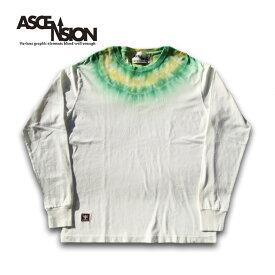ASCENSION(アセンション) タイダイロングTシャツ- LIMITED EDITION All Hand Made(オールハンドメイド)(曼荼羅・Tシャツ・野外フェス・タイダイ・ストリート・カラー・通販・サイケデリック・tie dye)as-688