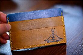 BLUE.art(ブルードットアート)Card case カードケースサドルレザー[Saddle leather] ba-006