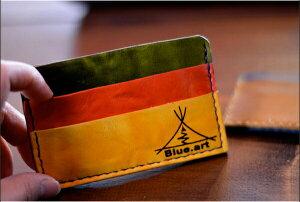 BLUE.art(ブルードットアート)Card case カードケースウオッシュレザー[Wash leather] ba-007
