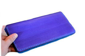 BLUE.art(ブルードットアート)Natural leather long wallet (ロングウォレット) material / Original Dye Leather ba-017