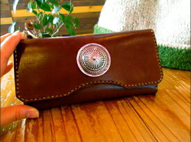 BLUE.art(ブルードットアート)Natural leather long wallet 〜big concho〜 ba-036
