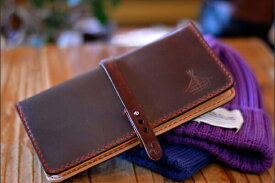BLUE.art(ブルードットアート)Natural leather long wallet [Horween chromexcel leather]ホーウィン社のクロムエクセルレザー ba-040