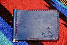 BLUE.art(ブルードットアート) MONEY CLIP 札ばさみ 2ポケットタイプ 藍染 INDIGO Leather ba-086